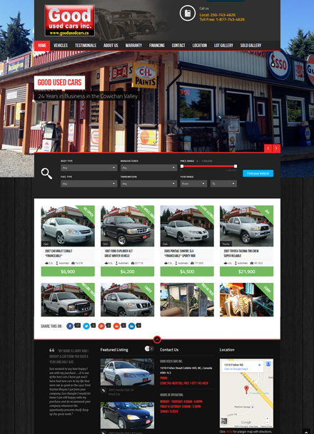 Good Used Cars - Urban Web Design