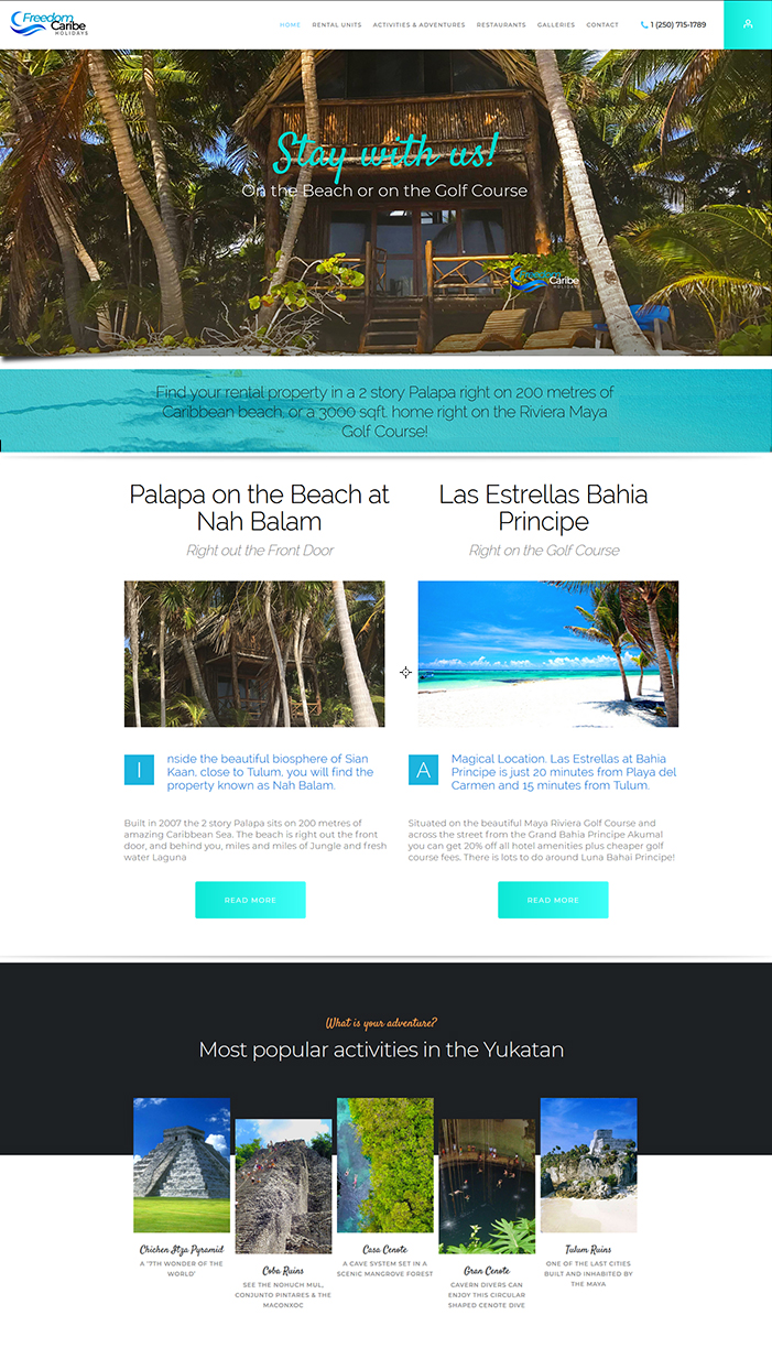 Urban Web Portfolio Item - Palapa on the beach
